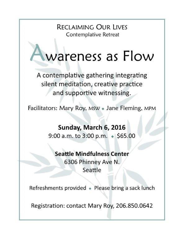 Awareness of Flow Retreat 2016